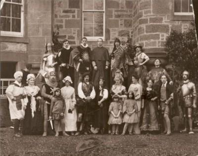 Early 20th C. residents in fancy dress