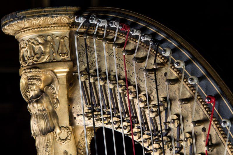 Hospitalfield's Erard Grecian Harp. Photo: Lance Aikman Green.