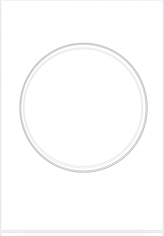 A digital drawing of a petri dish from above